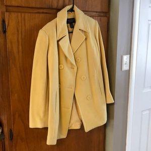 Yellow pea coat ❤️